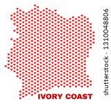 mosaic ivory coast map of heart ...   Shutterstock .eps vector #1310048806