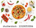 italian pizza and various... | Shutterstock . vector #1310053306