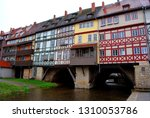 the merchants' bridge in erfurt ... | Shutterstock . vector #1310053786