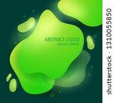 abstract modern flowing liquid... | Shutterstock .eps vector #1310055850