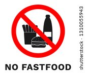 no fastfood sign. healthy food... | Shutterstock .eps vector #1310055943