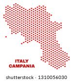 mosaic campania region map of... | Shutterstock .eps vector #1310056030