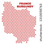mosaic burgundy province map of ... | Shutterstock .eps vector #1310058763