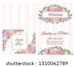 vector template for wedding... | Shutterstock .eps vector #1310062789