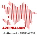 mosaic azerbaijan map of love... | Shutterstock .eps vector #1310062930