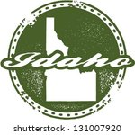 Vintage Style Idaho USA State Stamp - stock vector