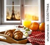Continental Breakfast White Wooden Window - Fine Art prints