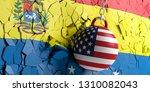usa and venezuela relations. us ...   Shutterstock . vector #1310082043