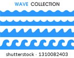 ocean waves in a simple cartoon ... | Shutterstock .eps vector #1310082403