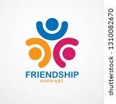 teamwork and friendship concept ... | Shutterstock .eps vector #1310082670