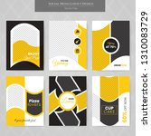 6 slides unique editable modern ... | Shutterstock .eps vector #1310083729