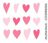 set of hearts pink color.... | Shutterstock .eps vector #1310086066