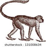 monkey | Shutterstock .eps vector #131008634