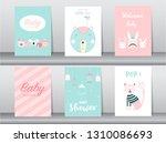 set of baby shower invitation... | Shutterstock .eps vector #1310086693