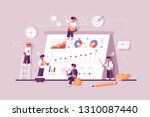 business people working at... | Shutterstock .eps vector #1310087440