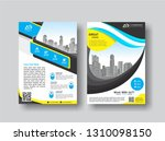 cover template a4 size.... | Shutterstock .eps vector #1310098150
