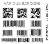 barcode and qr code sticker... | Shutterstock .eps vector #1310101900