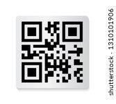 barcode and qr code sticker... | Shutterstock .eps vector #1310101906