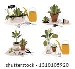 gardening icons set  spring... | Shutterstock .eps vector #1310105920