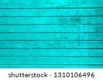 cyan teal  wood plank texture... | Shutterstock . vector #1310106496
