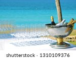 stem glasses and sparkling wine ... | Shutterstock . vector #1310109376