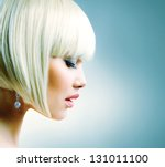 Постер, плакат: Haircut Hairstyle Hairdressing Fringe