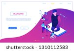 blogging online   modern... | Shutterstock .eps vector #1310112583