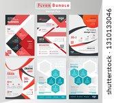 business flyer bundle design...   Shutterstock .eps vector #1310133046
