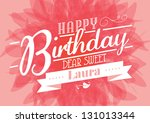 birthday template vector... | Shutterstock .eps vector #131013344
