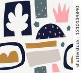 seamless pattern with modern... | Shutterstock .eps vector #1310134840