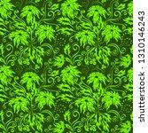 fantasy green flower seamless... | Shutterstock .eps vector #1310146243