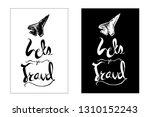 """let's go travel"" typography or ... | Shutterstock .eps vector #1310152243"