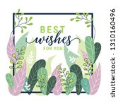 fantasy floral frame card with... | Shutterstock .eps vector #1310160496