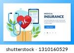 health insurance concept.... | Shutterstock .eps vector #1310160529