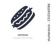 hotdog icon on white background....   Shutterstock .eps vector #1310160586