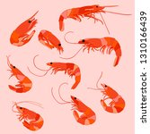 set of shrimp  food | Shutterstock .eps vector #1310166439