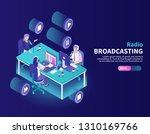 radio broadcasting color...   Shutterstock .eps vector #1310169766