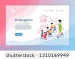 kindergarten isometric web page ... | Shutterstock .eps vector #1310169949