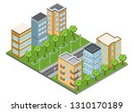 suburb buildings and... | Shutterstock .eps vector #1310170189