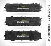 set of grunge banners.... | Shutterstock .eps vector #131017148