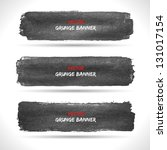 set of grunge banners.... | Shutterstock .eps vector #131017154