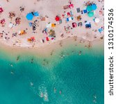 aerial view of sunny sandy...   Shutterstock . vector #1310174536