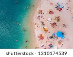 aerial view of sunny sandy...   Shutterstock . vector #1310174539