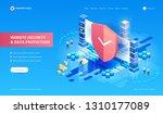 website security and data... | Shutterstock .eps vector #1310177089