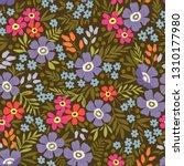 trendy seamless vector floral... | Shutterstock .eps vector #1310177980