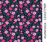 trendy seamless vector floral... | Shutterstock .eps vector #1310177989