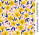 floral pattern. pretty flowers...   Shutterstock .eps vector #1310179720