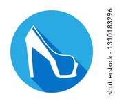 platform high heel shoe icon...
