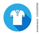 polo shirt icon with long... | Shutterstock . vector #1310183560
