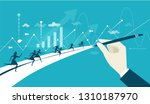 business people running on the... | Shutterstock .eps vector #1310187970